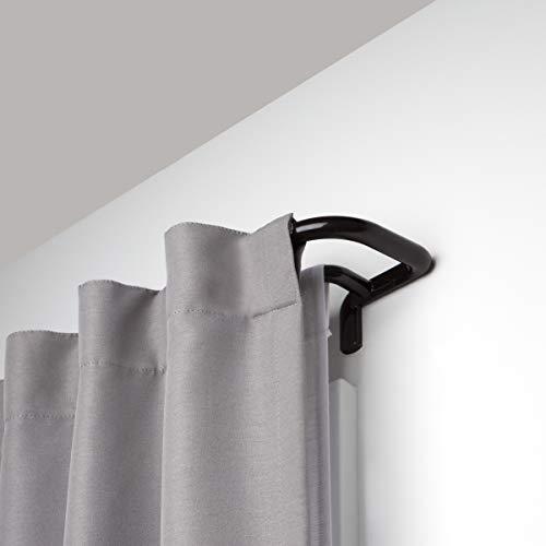 Umbra 1005892-797-REM Twilight Double Curtain Rod Set – Wrap Around Design is Ideal for Blackout or Room Darkening Panels, 48-88 Inch (122-224cm), Dark Bronze