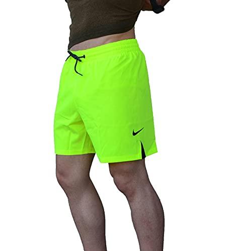 Nike Volley - Costume da Bagno da Uomo, Uomo, Costume da Bagno, NESSA480-737, Giallo, M