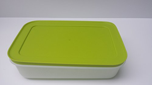Tupperware de congelador de recipiente de vuelva a congelar de colour verde con tapa 1,0 Liter 1000 ml caño de forma segura y congelador de pantalla plana