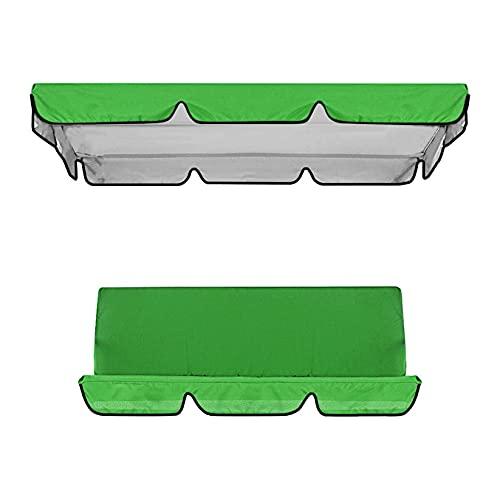 Cubierta impermeable para columpio, toldo y silla de jardín, protección solar (verde)