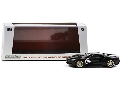 2017 Ford GT #2 '66 Heritage Ed. Black (1st Legally Resold 2017 Ford GT) Barrett-Jackson Auction Las Vegas 2019 1/43 Diecast Car - Greenlight 86178