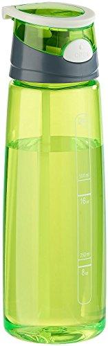 PEARL sports Getränkeflaschen Sport: BPA-freie Kunststoff-Trinkflasche mit Einhand-Verschluss, 700 ml, grün (Sporttrinkflasche)
