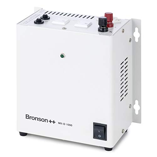 Bronson++ MII-D 1000 Transformador de Aislamiento galvánico/convertidor de 110V EE.UU. 1000 vatios - Entrada: 110V/230V - Salida: 110V