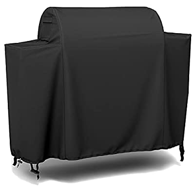 SHINESTAR Grill Cover for Traeger 650 Ironwood Pellet Grill, Heavy Duty Waterproof Smoker Cover, Fade Resistant & Rip Resistant, Full-Length Design, Black