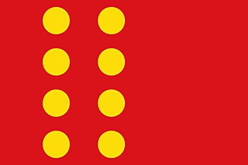 magFlags Bandera Large Moncada y Reixach España Bandera apaisada | Bandera Paisaje | 1.35m² | 90x150cm