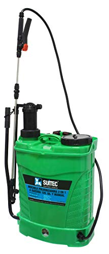 Sulfatadora Mochila a Batería/Manual 16L. Suministros Industriales. Regulador de Presión. Lanza Extensible Inoxidable