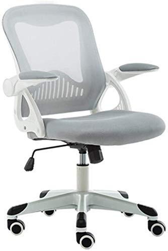 N/Z Home Equipment Mesh Büro Schreibtischstuhl Mittlerer Rücken Drehbarer Handlauf Atmungsaktives Netz Drehbarer Computerstuhl (Farbe: Hellgrün)