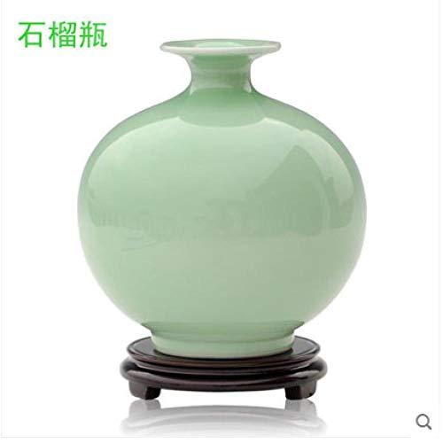 Porseleinen vaas, Bloemschikking, Woonkamer in Chinese stijl, Huismeubels, Wijnkast Ambachten Decoratie, 17 * 15cm