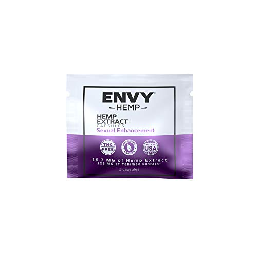 Envy Hemp Enhancement Capsules | Improve Performance | Can Ease Stress, Increase Circulation, and Enjoyment| 250mg Hemp Extract and 5625mg Horny Goat Weed| for Daily Use - 30 Capsules