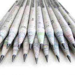 Eco newspaper pencil-30 pieces(1 Pack) 2B made from 100% recycled newspaper pencil for writing/drawing/design for office/schools