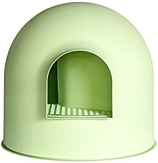 pidan Cat Litter Box with Lid Large with Scooper Cat Litter Pan Snow House Igloo Solide and Durable Easy to Clean with Non-Stick Coating - Stylish, High-Sided Design