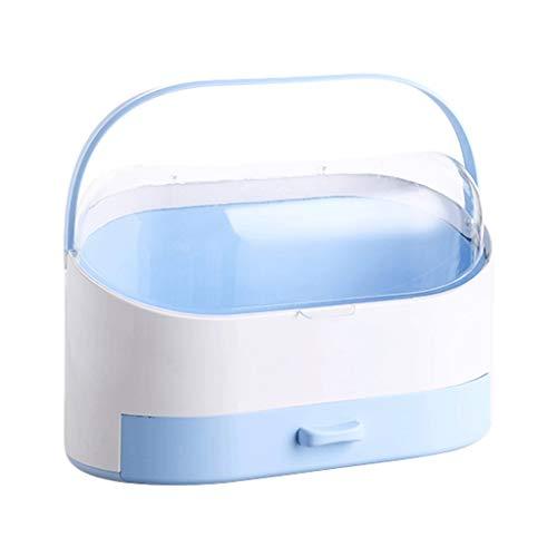 Boîte de Rangement cosmétique Accueil PP + PC Grande capacité Boîte de Rangement cosmétique (Color : Blue)