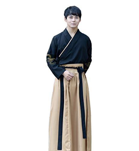 N A Miglioramento dello Stile Cinese Costume Abito da Uomo Abbigliamento Top Camicia + Gonne 2PC