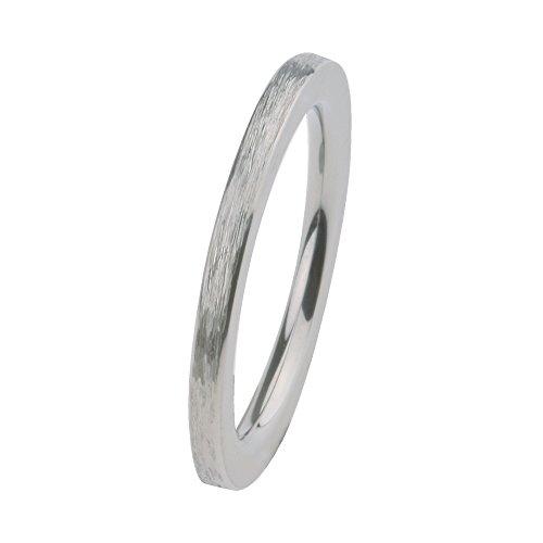 Ernstes Design Vorsteckring, ED vita Ring, Beisteckring, Ring gerade aus Edelstahl geschliffen 2mm R262 (57 (18.1))