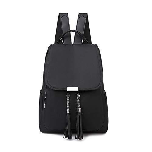 Fashion Women Waterproof Backpack Oxford Rucksack School Bag Casual Daypack School Travel Work,Black
