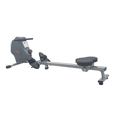 Sunny Health & Fitness SF-RW5856 Magnetic Rowing Machine Rower with Flywheel, 285 LB Max Weight, LCD Monitor and Device Holder