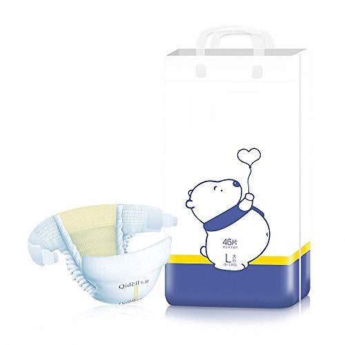 Miarui Bebé de bambú biodegradables pañales para bebés Naturaleza Pañales Desechables amigable Eco de los panales del Ultra Absorbente de pañales Desechables para bebés,M