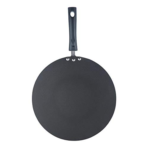 Vinod MT30 Nonstick Flat Multi Tawa 30cm, 12-Inch, Black