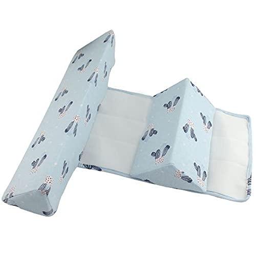 Hengqiyuan Almohada de Bebé Anti Deformación Cabeza Triángulo Almohada de Bebé Diseño de Cremallera Almohada de Bebé Ajustable para Niños Pequeños 0-6 Meses,Azul