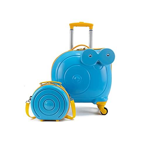 FGHHJ Equipaje para niños y Mochila, Caracoles Lindos Maleta de Viaje,Azul