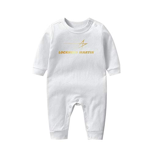 Baby Onesies LM-Lockheed-Martin-Flash-Gold- Long Sleeve Footed Soft Breathable Baby Pajamas