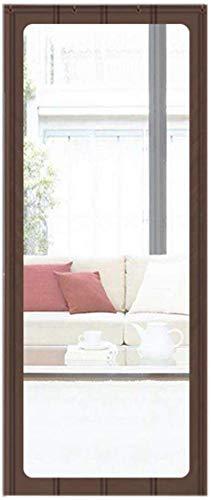 SLM-max Türvorhang, Winter Gewerbe Warm Baumwolle Vorhang, mit einem PVC-Material großen Hellen Fenstern, Geeignet für/Supermärkte,Braun,120×200cm