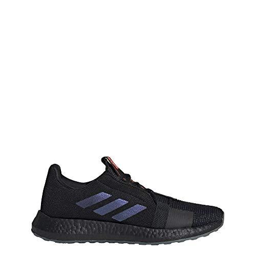 adidas Senseboost Go - Zapatillas para hombre, Negro (Núcleo negro/Boost azul violeta Met. / Le), 40.5 EU