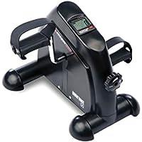 Ultrasport Minibicicleta doméstica, pedalina, ejercitador de brazos y piernas para todas las edades con consola, resistencia ajustable, aparato de gimnasia para el hogar y la oficina