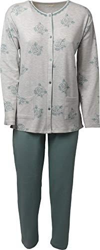 Kappa Pyjama d/ét/é pour Femme en Pur Coton avec col Rond et Manches contrast/ées