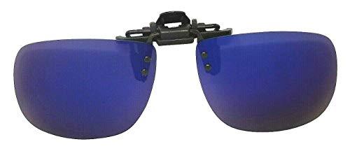 Gafas de sol plegables con clip, lentes polarizadas, color azul