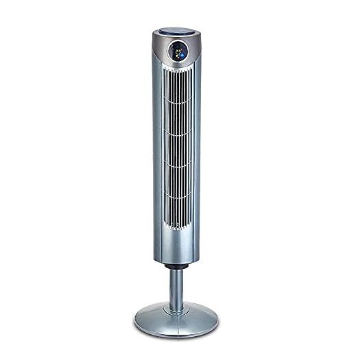 Condizionatore d'Aria Portatile Condizionatore d'Aria da Terra, Ventola Grigio Argento Tlcommand Tower/Up Senza Pale/Grandangolo/Circolazione della Ventola 'Turbina Ventola di Raffreddamento Ventola