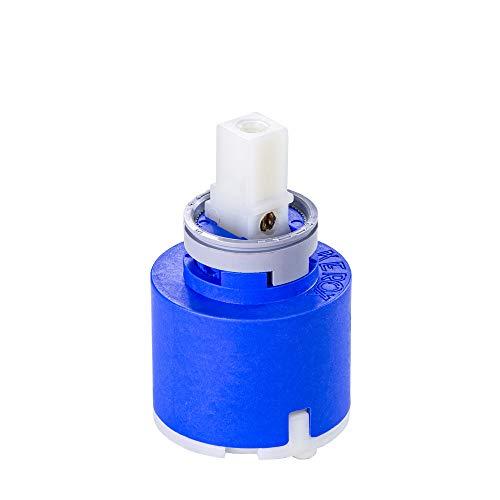 Cartucho de 35 mm HD azul de cerámica para grifo de cocina Franke de alta presión equivalente a 133.0372.710 | Cartucho de repuesto para grifos, monomando, grifo de cocina