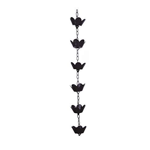 YARNOW Cadena de Lluvia de Loto Cadenas de Lluvia Decorativas de Cobre Campanas de Lluvia Tazas Decoración de Jardín para Bajante de Canal de Techo