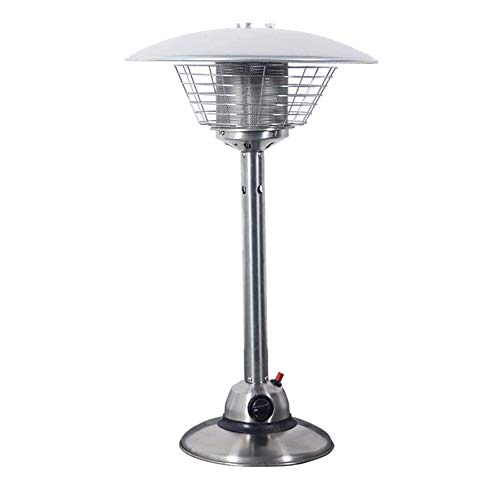 WSN Stainless Steel Tabletop Patio Heater, Waterproof Heavy Portable Indoor Outdoor Fire Pits, Propane Or Butane Gas Bottle, for Gazebo Garden Camping
