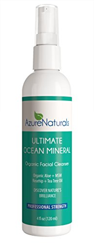 ULTIMATE OCEAN Mineral Organic Facial Cleanser Offers High-End Spa Quality Oceanic Minerals Will Nourish Dry Skin & Damaged Skin, Diminish Discoloration & Leave your Skin Clean, Healthy, Youthful!