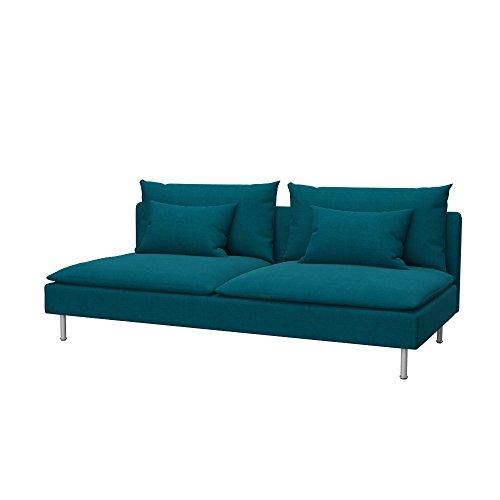 Soferia - IKEA SÖDERHAMN Funda para sofá Cama, Elegance Turquoise