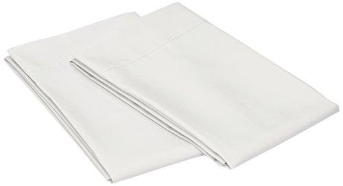 Colchas Concord AFAS0001 Fundas de Almohada Estándar Color Blanco