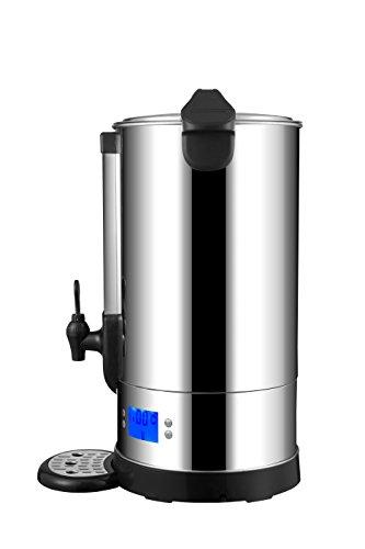 MYLEK Catering Urn Digital Hot Water Tea Boiler Dispenser 25L and Mulled Wine Warmer Energy Efficient Stainless Steel…