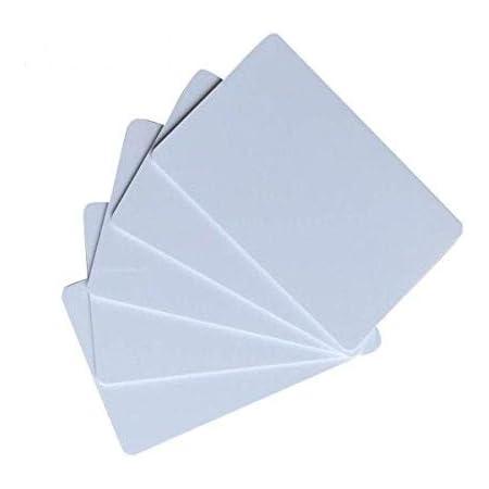 ATK Lot de 10 cartes blanches ISO 14443A compatibles avec NFC et technologie d'identification par radiofréquence avec puce analogue à MIFARE Classic 1K