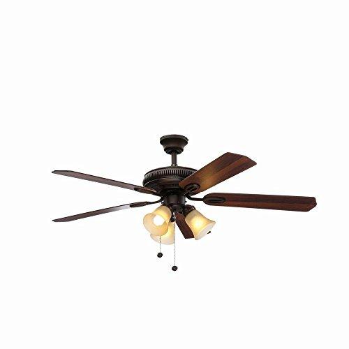 Hampton Bay Glendale 52 In. Oil Rubbed Bronze Ceiling Fan