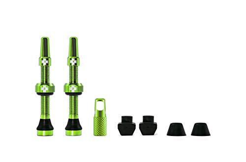 Muc Off 1053 Valvola tubeless, Verde, 44mm, Set di 2