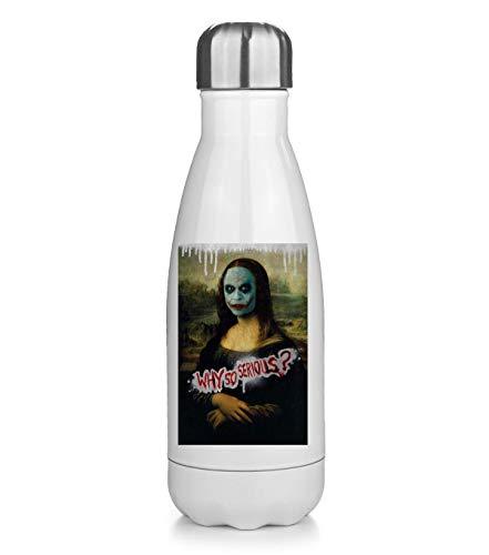 NoMoreFamous Mona Lisa Why So Serious Joker Face Leonardo Térmica Bottela Termo Bottle Acero Inoxidable