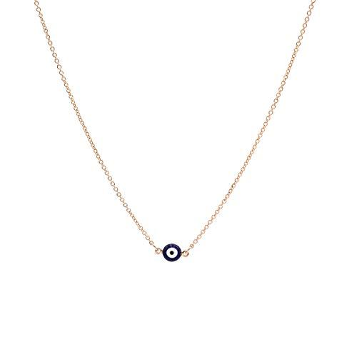 MISS RIGHT Evil Eye Nazar Amulet Ojo Protection Bracelet Necklace Turco Kabbalah Good Luck Bolo Cord Bracelet Dainty Lucky Beaded Charm Pendant Necklace for Women Men Girls (Evil Eye Nazar Necklace)