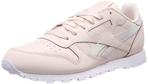 Reebok Jungen Classic Leather Gymnastikschuhe, Pink (Pale Pink/White), 38 EU