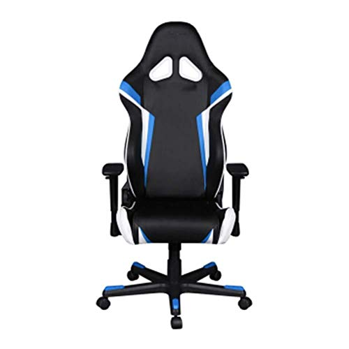 DKee. Wee Computer Game Chair Heim Ergonomischer Gaming Chair Bürostuhl Drehstuhl Schwarz Orange Weiß-Blackorangewhite (Color : Blackbluewhite)