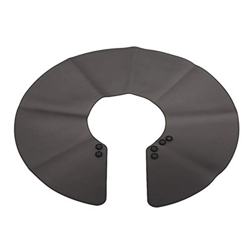 Piero Neck Cape Wrap Collar Shield voor kapsel Waterdicht siliconen haarkleuring Kapper Kappers Hair Styling Tool, zwart
