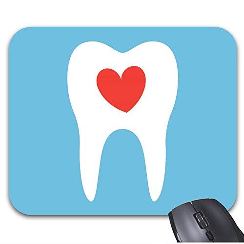 Mousepad Zahn Silhouette Liebe Herz Zahnarzt Zahnmaus Matte