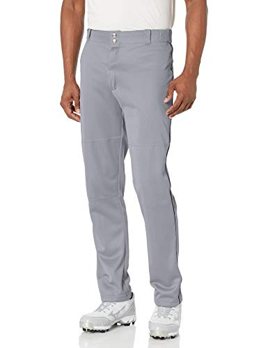 Wilson Men's Classic Relaxed Fit Piped Baseball Pant, Grey/Black
