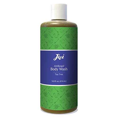 Jivi Antifungal Body Wash, Treats Athlete's Foot, Toenail Fungus, Ringworm, Jock Itch, & More, Tea Tree, 12 Fl Oz
