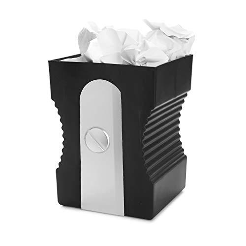 balvi Papierkorb Sharpener Farbe Schwarz Recycling-Papierkorb Das ideale Zubehör für das Arbeitszimmer oder für ins Büro ABS-Kunststoff/Polypropylen 29 x 21,5 x 21 cm